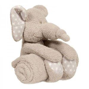 Jucarie de plus cu paturica pentru bebelusi Bo Jungle, Zimbe Elefantul imagine