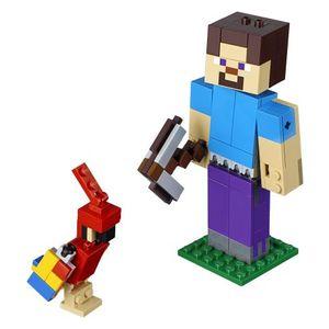 LEGO Steve Minecraft BigFig cu papagal imagine