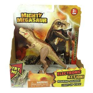 MIGHTY MEGASAUR DINOZAUR CU LUMINI ȘI SUNETE - Tyrannosaurus Rex imagine