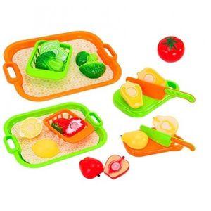 Set fructe si legume cu tava GLOBO CUCCINA pentru copii imagine