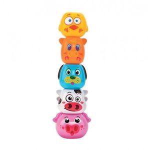 Joc de stivuit animale domestice Globo Vitamina G pentru bebelusi cu 5 forme colorate imagine