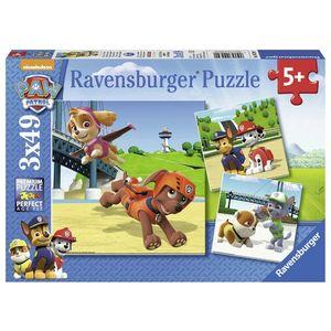 Puzzle patrula catelusilor, 3x49 piese - Ravensburger imagine