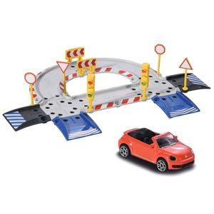 Pista de masini Majorette Creatix Starter Pack cu 1 Masinuta Volkswagen imagine