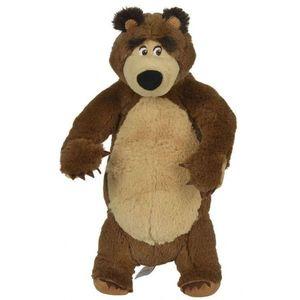 Jucarie de plus Simba Masha and the Bear, Bean Bag Bear in picioare 25 cm imagine