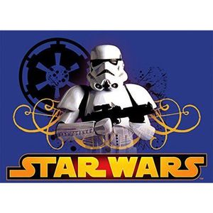 Covor camera copii Stormtrooper Star Wars 95x133 cm Antiderapant imagine