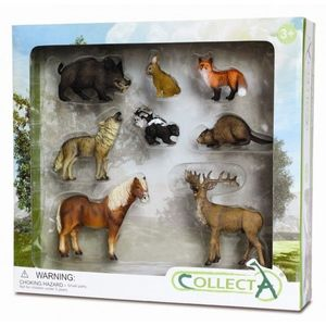 Set 8 Figurine Animale din Padure imagine