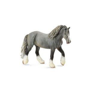 Figurina Cal Mare Gri Shire XL Collecta imagine