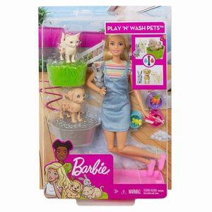 Set papusa Barbie si accesorii pentru baie imagine