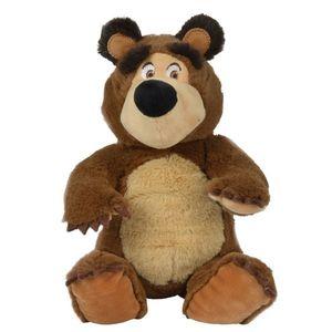 Jucarie de plus Simba Masha and the Bear, Bean Bag Bear 20 cm imagine