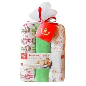BoboBaby Scutece textile pentru bebelusi 3 buc. - Verde imagine