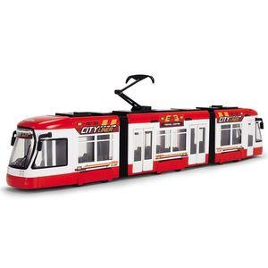 Tramvai Dickie Toys City Liner rosu imagine