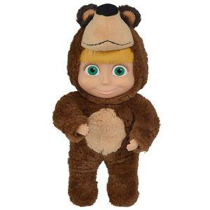 Papusa Simba Masha and the Bear 2 in 1 Masha 25 cm in costum de urs imagine