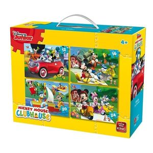 Puzzle 4in1 Mickey Mouse imagine
