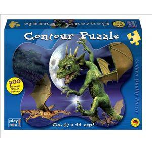 Puzzle contur 700 piese Dragon imagine