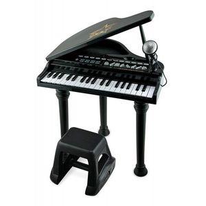 Mini Pian cu scaunel si microfon Winfun 37 clape cu functie inregistrare Negru imagine