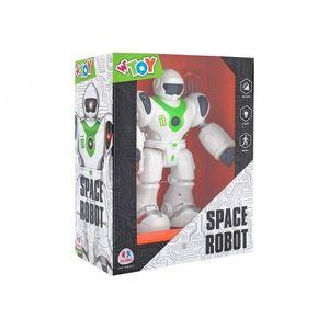 Robot cu baterii Globo sunete si lumini care merge si trage cu ventuze imagine