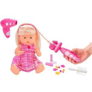 Papusa fetita cu sunete 40 cm Globo Bimbo 38931 cu accesorii frumusete si dispozitiv impletit parul imagine