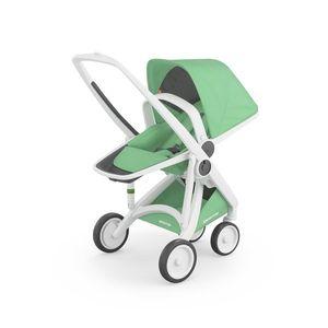 Carucior, Greentom, Reversible, 100% Ecologic, White Mint imagine