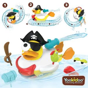 Jucarie Rata pirat cu motor si 15 accesorii, Yookidoo, 2-6 ani imagine