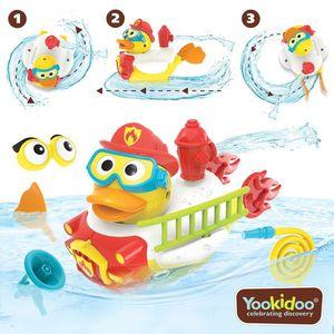 Jucarie Rata pompier cu motor si 15 accesorii, Yookidoo, 2-6 ani imagine