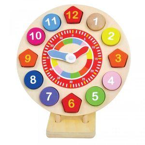 Ceas colorat din lemn imagine