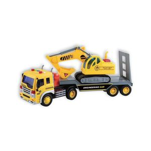 Transportor cu excavator cu lumini si sunete Cool Machines imagine