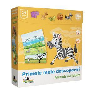 Puzzle Noriel Primele mele descoperiri - Animale in habitat imagine