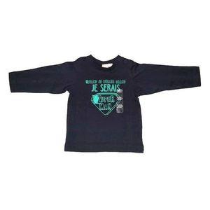Bluza cu maneca lunga pentru bebelusi Grain de ble marimea 59 cm, 3 luni, Bleumarin inchis imagine
