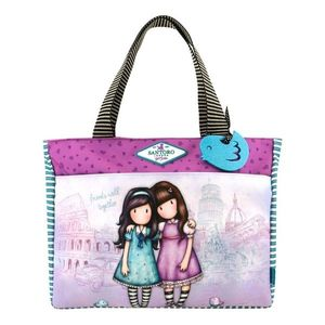 Gorjuss Cityscape geanta shopping - Friends Walk Together imagine
