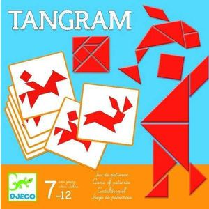 Puzzle geometric Tangram imagine