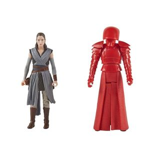 Set figurine Star Wars Force Link - Rey (Jedi Training) & Elite Praetorian Guard imagine