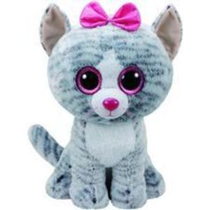 Jucarie De Plus Ty Beanie Boo Kiki The Cat Grey Plush Toy 40Cm imagine
