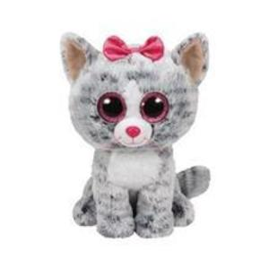 Jucarie De Plus Ty Beanie Boo Kiki The Cat Grey Plush Toy 23 Cm imagine