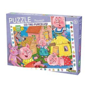 Puzzle Noriel cu povesti 240 de piese - Cei trei purcelusi imagine