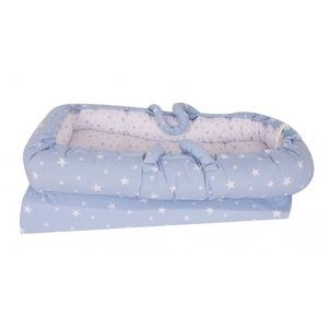 Co-sleeper anti-reflux Nest Blue Stars Sevibaby imagine