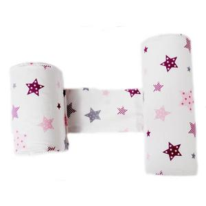 Perna anti-rasucire si pozitionare bebelusi Pink and Grey Stars White imagine