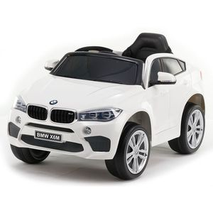 Masinuta electrica cu roti de cauciuc BMW X6M White JJ2199 imagine