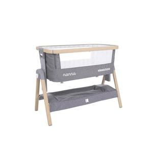 Patut Co-Sleeper Nanna Dark Grey Melange Wood imagine