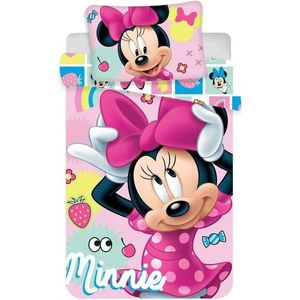 Set lenjerie pat copii Minnie 100x135 SunCity imagine