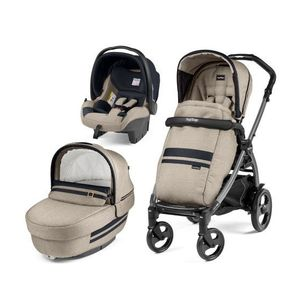 Carucior 3 in 1, Peg Perego, Book Plus 51 Titania Luxe - Luxe Ecru imagine