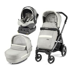 Carucior 3 in 1, Peg Perego, Book Plus 51 Titania Luxe - Luxe Pure imagine
