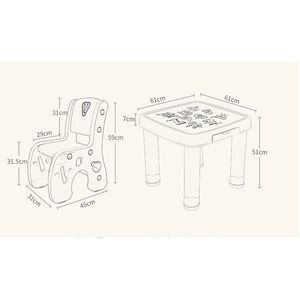 Set masuta cu 2 scaunele Learning Table Orange imagine