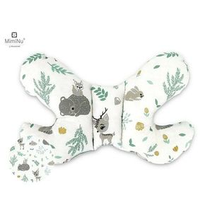 Perna bebelusi Butterfly Forest friends GreyMint MimiNu imagine