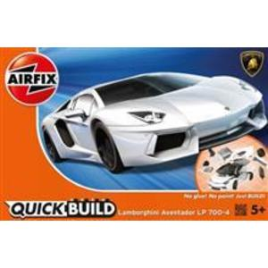 Kit Constructie Airfix Quick Build Lamborghini Aventador White imagine