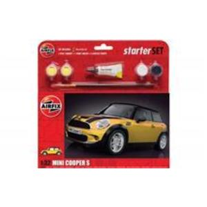 Kit Constructie Airfix Masina Mini Cooper S Starter Set - Yellow 1: 32 imagine