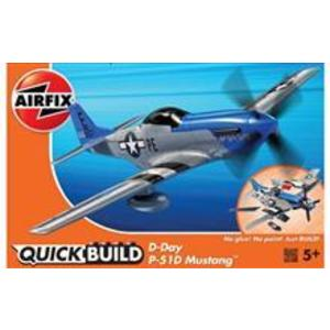 Kit Cosntructie Airfix Quick Build Avion D-Day P-51D Mustang imagine
