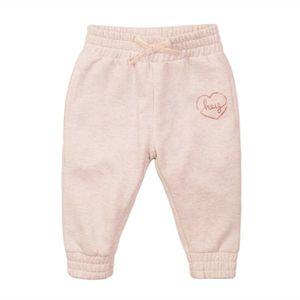 Pantaloni sport cu banda elastica roz pal Minoti 4Todjpant imagine