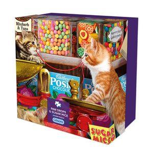 Puzzle 500 piese - Rasfaturi dulci pentru pisici imagine