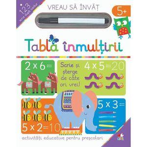 Carte Editura Litera, Vreau sa invat, Tabla inmultirii imagine