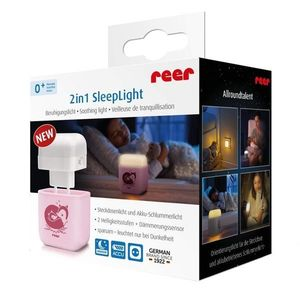Lampa de veghe 2 in 1 cu led Reer roz imagine